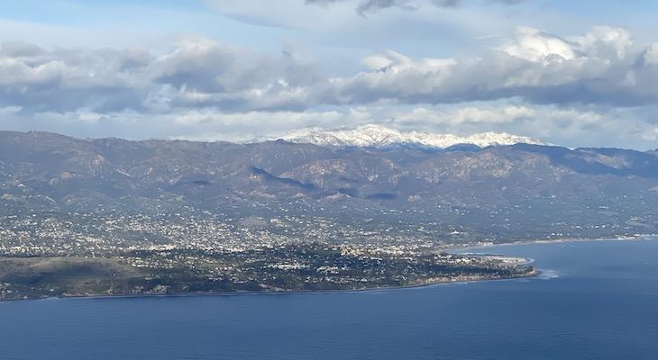 Snow Behind Santa Barbara