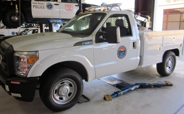 Police Searching for Stolen Santa Barbara City Utility Truck title=