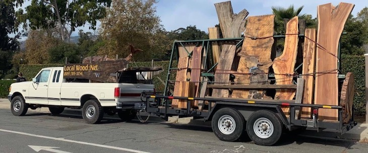 Stolen Truck and Trailer Full of Wood