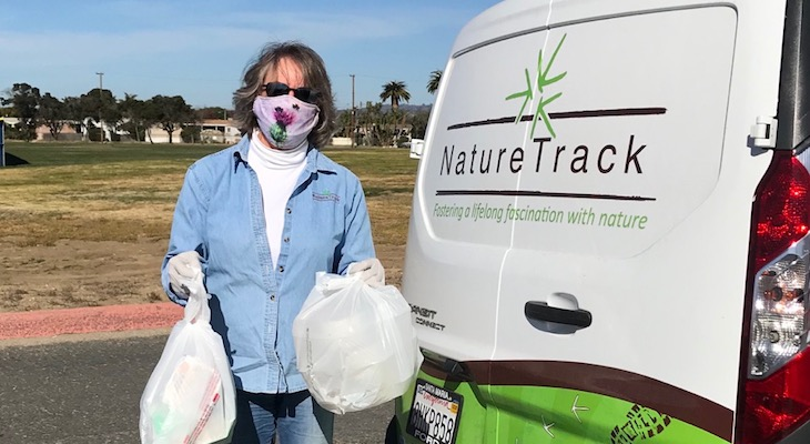 NatureTrack on the Road Delivering Food to Families in Lompoc title=