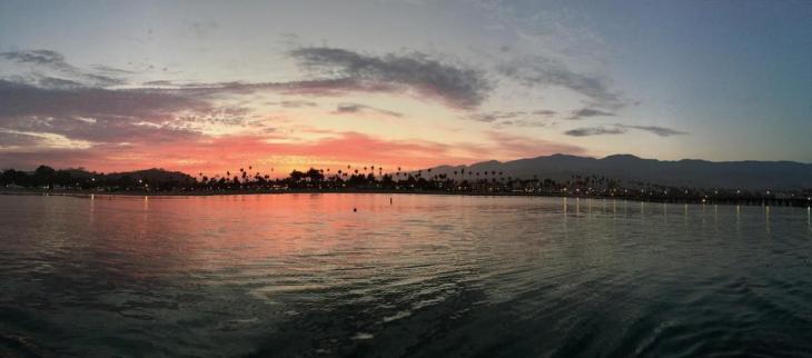 Panoramic Santa Barbara Sunset