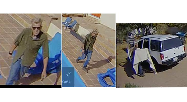 Burlgary Suspect Caught on Camera