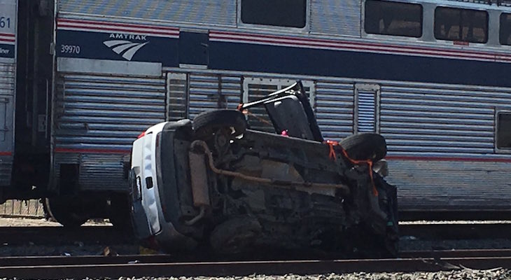 Train Collides with Vehicle Killing One Woman