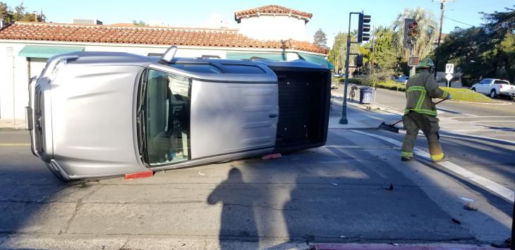 Solo Vehicle Rollover on Mission