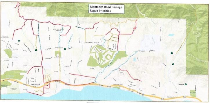 Supervisors Dedicate $10 Million to Repairing Montecito Roads