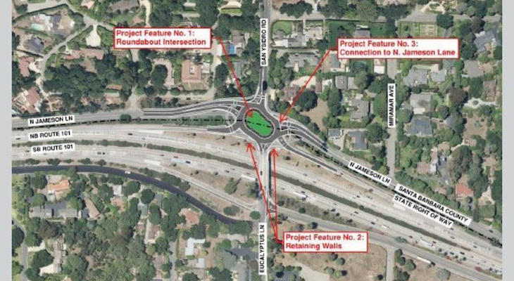 Two Proposed Roundabouts for Montecito title=