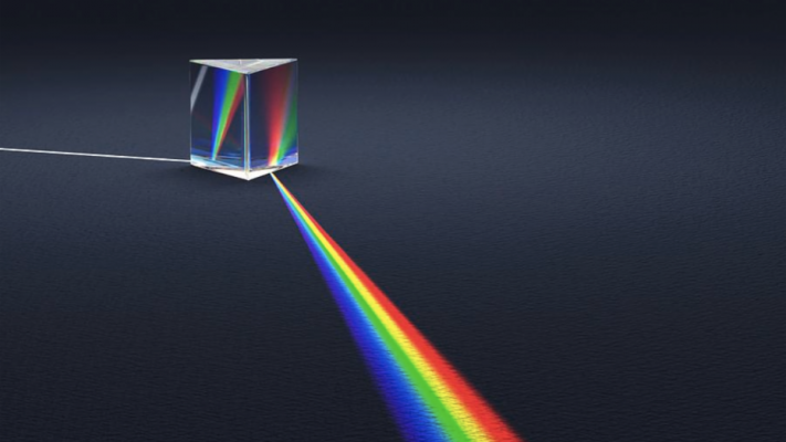 Light refracting through a prism title=