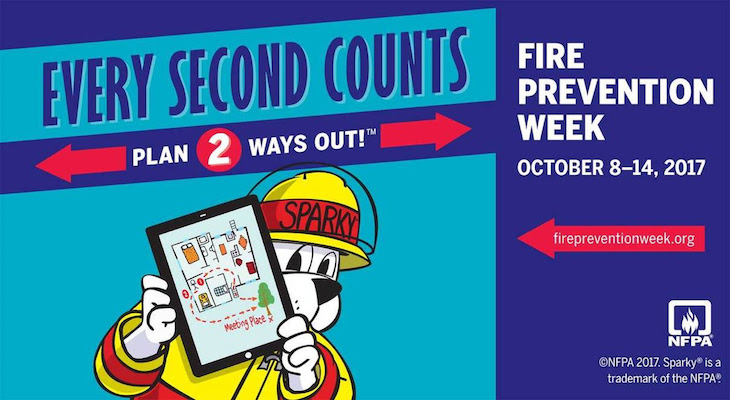 Today Marks the Start of Fire Prevention Week title=