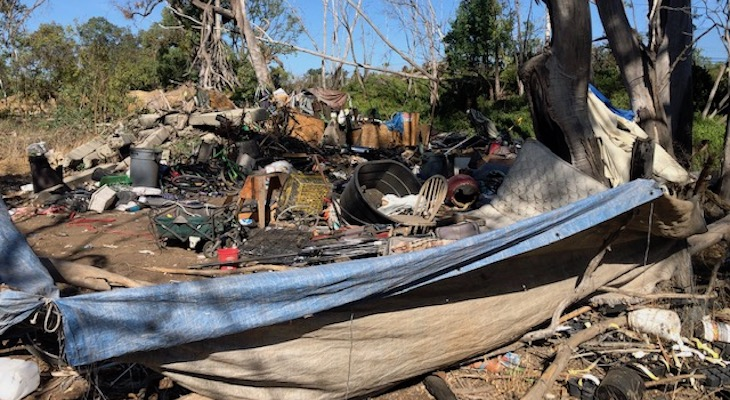Goleta Leads Charge in Cleaning Up Homeless Camps title=