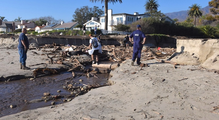 From the Fire into the Surf: How Montecito Mud Winds up at Goleta Beach title=