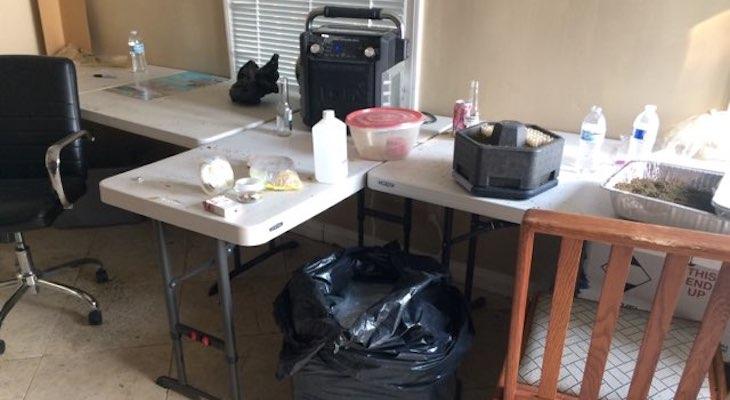 Marijuana Extraction Lab Found in Mandatory Evacuation Zone