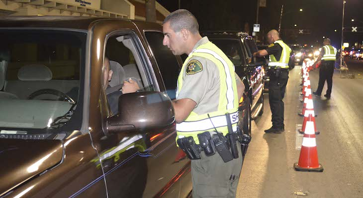 DUI Checkpoint in Goleta Tonight