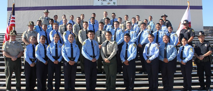 40 Recruits Graduate from the Law Enforcement Explorer Academy title=