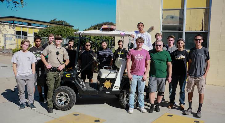 "Students Show Off Their Refurbished ""Cop Cart"" Project"