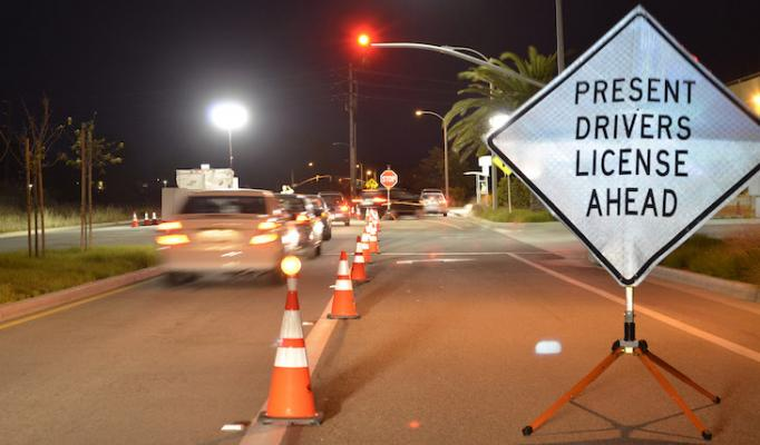 DUI Checkpoint in Goleta Friday Evening