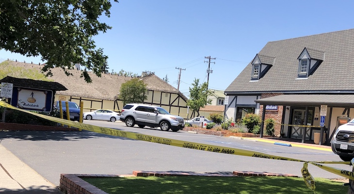 Bank Robbery in Solvang, Suspect on the Loose