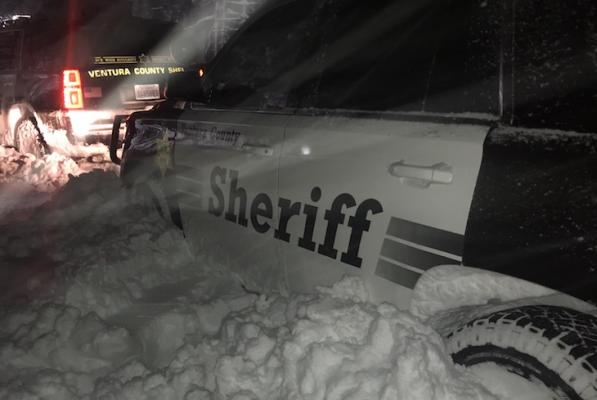 Camper Rescued from Mount Pinos During Snow Storm title=