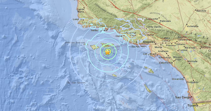 5.3 Magnitude Earthquake Strikes Off Channel Islands