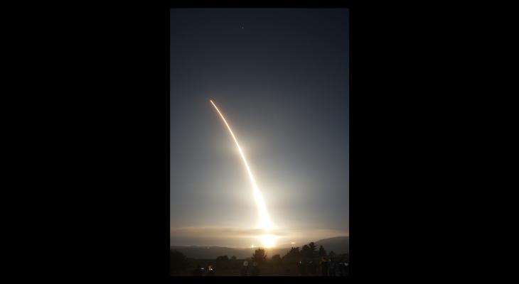 Unarmed Minuteman III test launch from Vandenberg