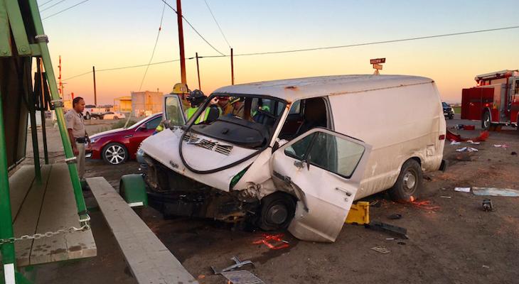 Head on Collision Leaves Six Injured