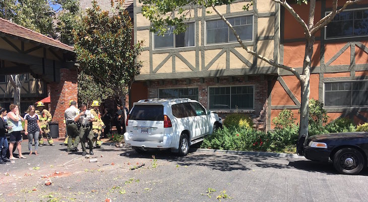 Vehicle Crashes into Solvang Building