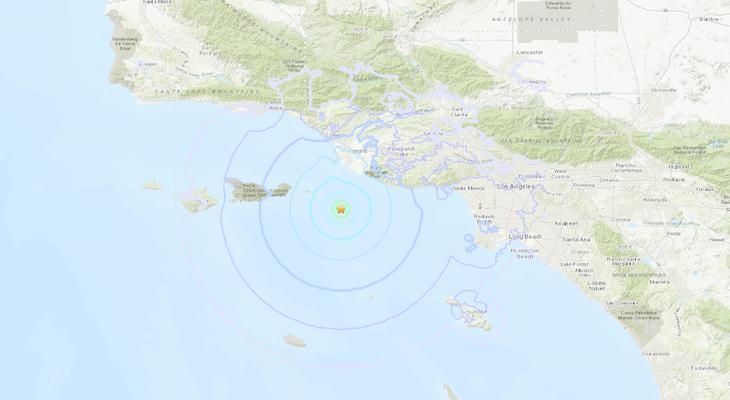 4.0 Earthquake Off Ventura Coast