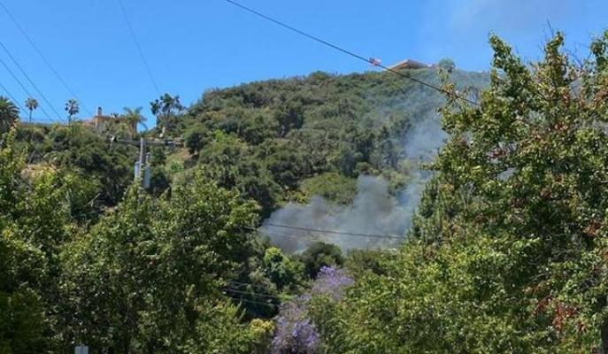 Brush Fire on W. Cota