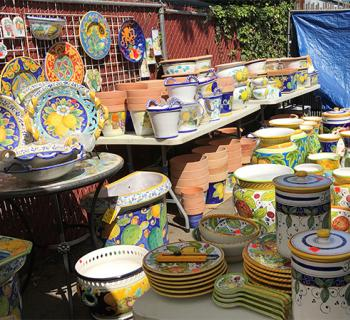 Italian Pottery Outlet Warehouse Sale