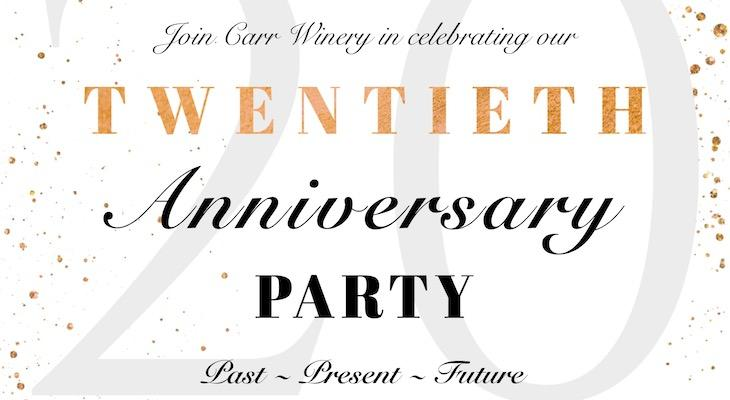Carr Winery 20th Anniversary Party