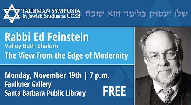 The View from the Edge of Modernity: Lecture by Rabbi Feinstein