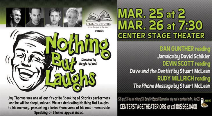 SPEAKING OF STORIES PRESENTS  NOTHING BUT LAUGHS