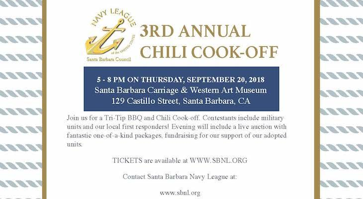 Santa Barbara Navy League's 3rd Annual Chili Cook-off