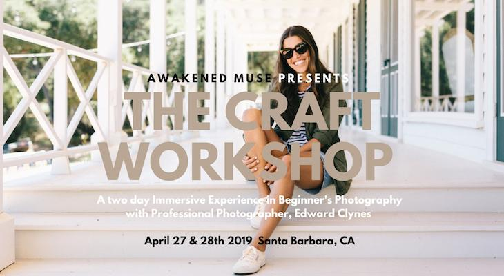 The Craft Workshop for Beginner Photographers