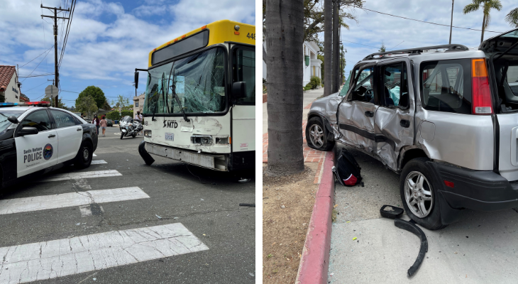 Driver Arrested and Two Injured in Collision with MTD Bus