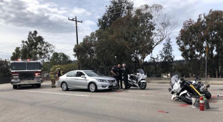 Police Officer Injured in Traffic Collision