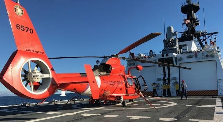 Coast Guard Responds to Stuck Vessel Near Santa Cruz Island