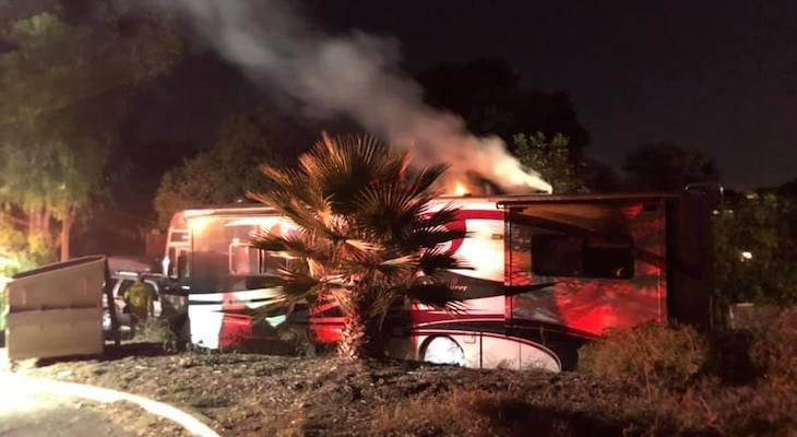 RV Fire at Eling's Park