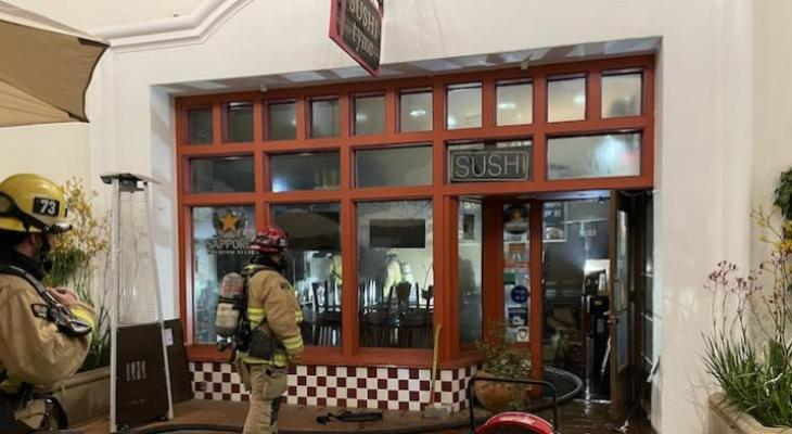 Fire At Sushi Thyme Restaurant in Downtown Santa Barbara