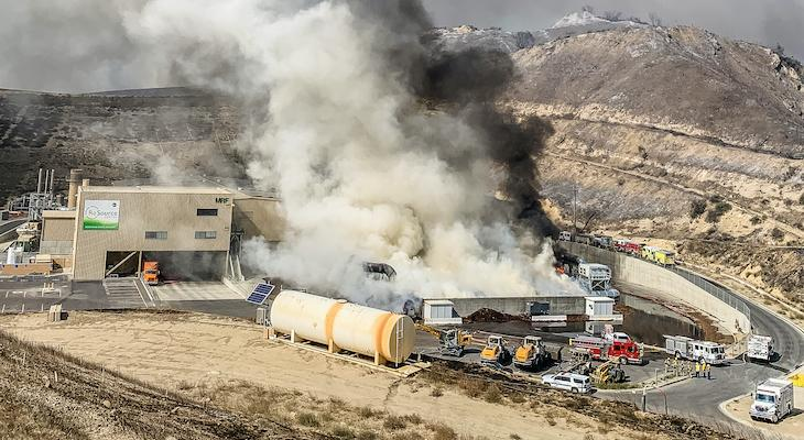 COUNTY FIRE RESPONDS TO ALISAL FIRE AT THE TAJIGUAS LANDFILL