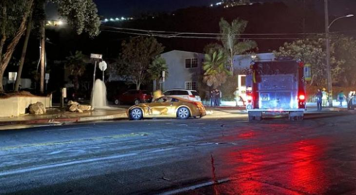 Vehicle Collides with Hydrant, Causes Power Outage