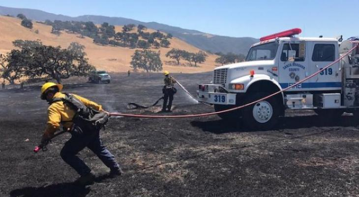 Brush Fire at Armour Ranch Stopped at 11 Acres