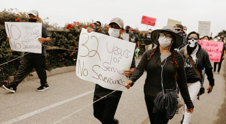 Biltmore Hotel Workers Protest Employment Uncertainty