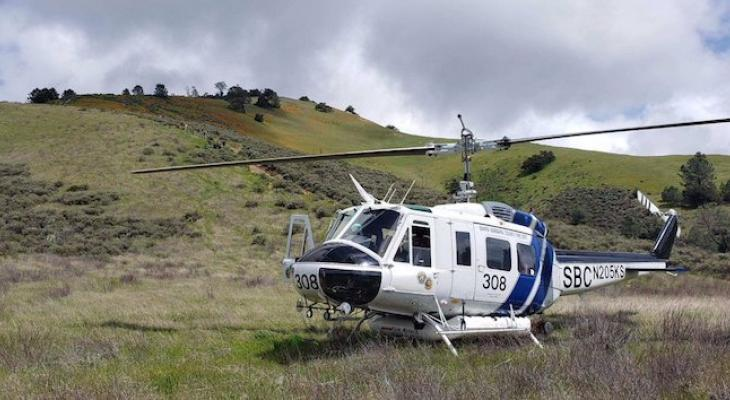 Injured Hiker Rescued by Helicopter on Grass Mountain
