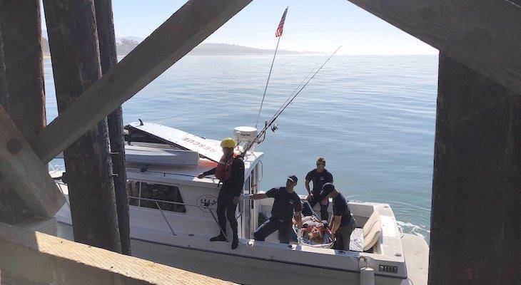 Woman Rescued in the Ocean Off Goleta Beach