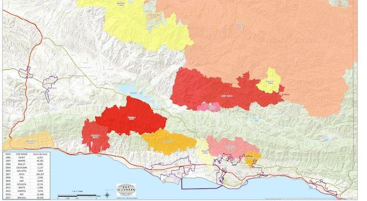 History of Santa Barbara Fires
