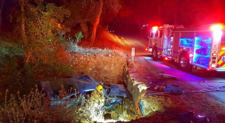 Man Found Crawling from Vehicle Accident Wreckage