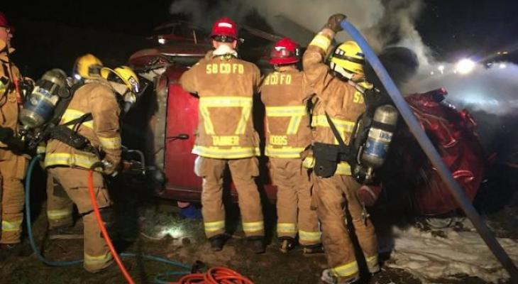 Man Dies in Fiery Vehicle Collision