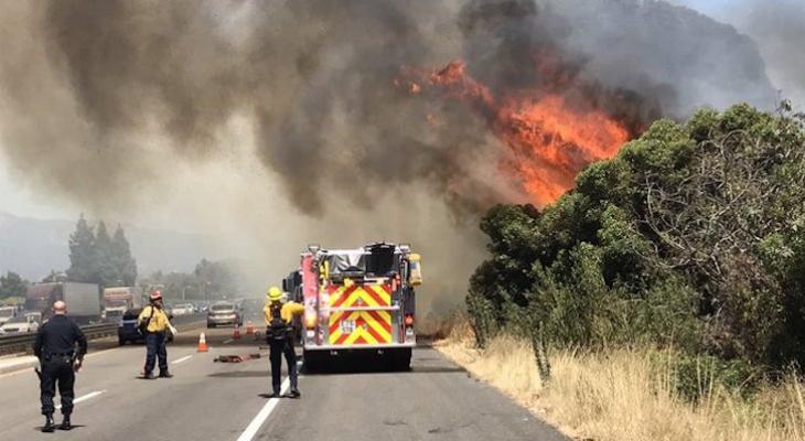 Second Goleta Homeless Camp Fire Along Highway 101