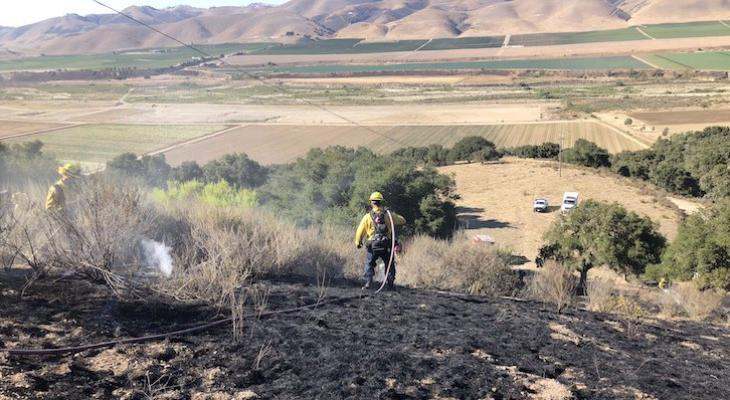 Foxen Canyon Brush Fire Held at One Acre