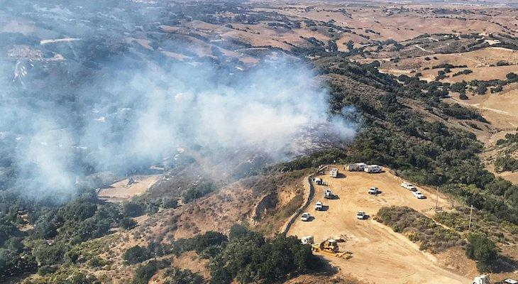 Brush Fire Near Sisquoc Stopped at Two Acres
